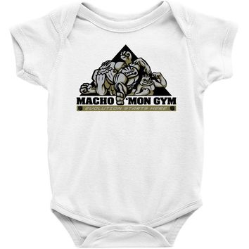 pokemon, gym, shirt, machop, machamp, machoke Baby Onesuit