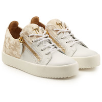 Leather Platform Sneakers with Velvet - Giuseppe Zanotti | WOMEN | KR STYLEBOP.COM