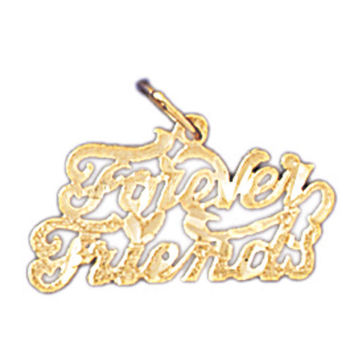 14K GOLD SAYING CHARM - FOREVER FRIENDS #10391