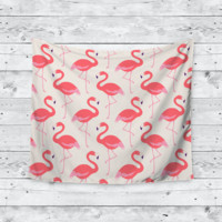 Pink Flamingo Flock Home Decor Trendy Boho Wall Tapestry