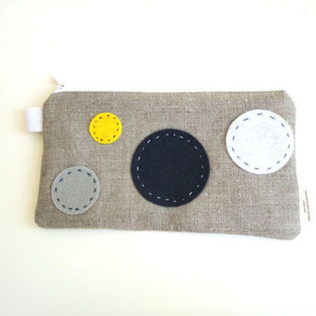 Sky Zippered Pouch Small / Pencil Case by handmadephilosophy