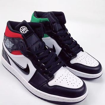 Trendsetter Air Jordan 1 Mid Quai 54  Women Men Fashion Casual Old Skool Shoes