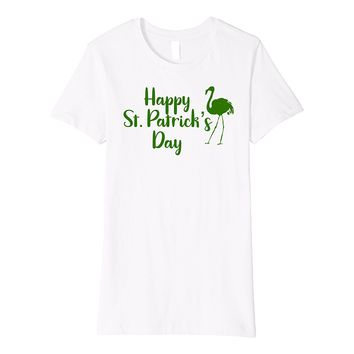 Happy St Patrick's Day Flamingo T-Shirt Flamingo Lover Shirt