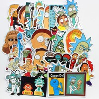 35 Pcs /lot PVC American Drama Rick and Morty Sticker/Decal