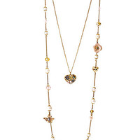 QUEEN BEE LONG TWO ROW ILLUSION NECKLACE