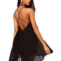 Women's Sexy Chiffon Sling Short Mini Party Cocktail Dress Summer:Amazon:Clothing
