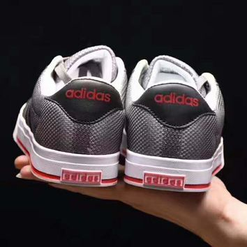 One-nice™ Adidas fashion women man sports running shoes sneakers gray-black line-red logo H-PSXY