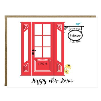 Happy New Home Housewarming Card