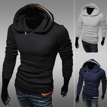 Hoodies Men Slim Pullover Hats Tops Jacket [6528676291]