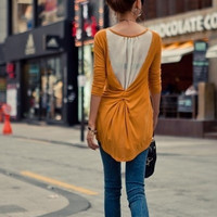 new arrival Long Sleeve Women's Chiffon blouse t-shirts Fashion Splicing O-Neck Knit Top Casual slim tops tees = 1958416452