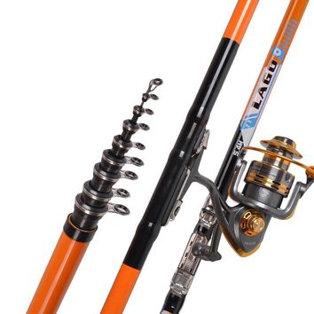LEO 2.7-6.3M  Super Hard Fishing Rod Telescopic Sea Fishing Pole Rock Rockies Carp Fishing Gear Tackle Fishing Accessories