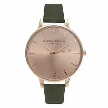 BIG DIAL KHAKI SAFFIANO AND ROSE GOLD
