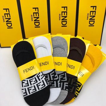Fendi Fashion 5 Pairs Per Set Sock Style #212