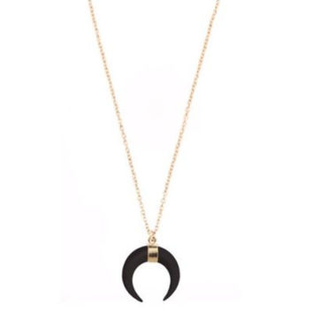 Small Bone Crescent 14K Gold Filled Necklace