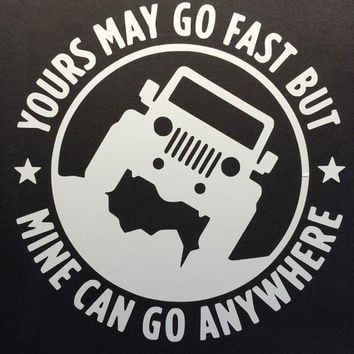 Jeep Decal - Go Anywhere