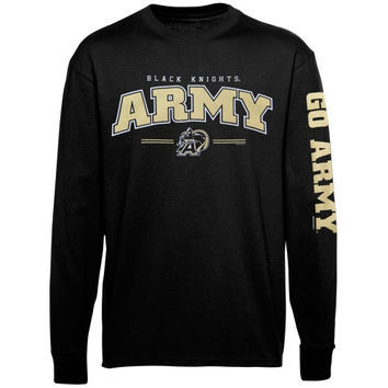 Army Black Knights Youth Double Hit Long Sleeve T-Shirt - Black