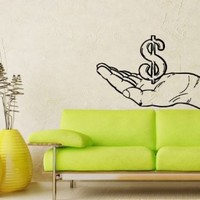 Wall Decals Money Cash Currency Dollar Decal Vinyl Sticker Home Decor Bedroom Interior Window Decals Living Room Art Murals Chu1327