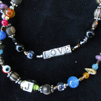 MODERN LOVE BEADS ~ express Yourself ~ express your Love ~ Wedding Birthday Anniversary Christmas Gift! <3 MaDe To OrDeR! 32 inches Long