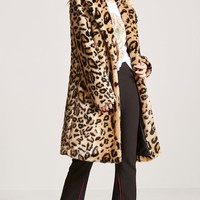 Faux Fur Cheetah Coat