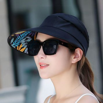 summer Sun Hats sun visor hat Sun Hats for women with big heads beach hat UV protection