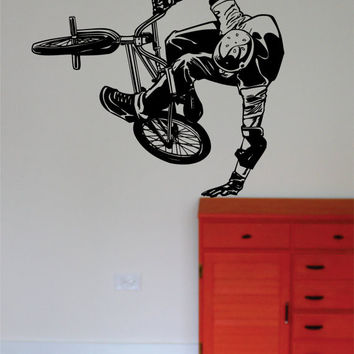 BMX Biker Version 5 Design Sports Decal Sticker Wall Vinyl