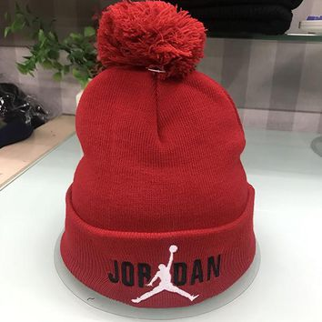 Perfect Jordan Women Men Embroidery Beanies Winter Knit Hat Cap