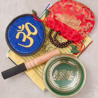 Tibetan Singing Bowl Gift Box