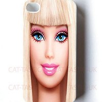 Barbie doll case for apple iPhone 4,4s,5,5s,5C,galaxy S2,S3,S4 pink,disney