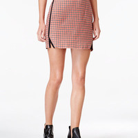 Maison Jules Houndstooth-Print Mini Skirt, Only at Macy's - Skirts - Women - Macy's