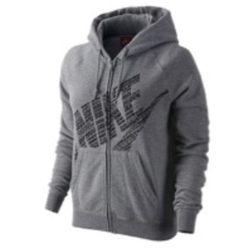 Nike Rally Full Zip Logo Hoodie - Women's at Lady Foot Locker