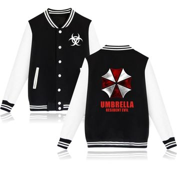 2017 New Hot Sale Resident Evil Design Umbrella Baseball Jacket Harajuku Men's Capless Hoodies High Quality Brand Clothing