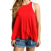 Red Piko Racerback Tank Top