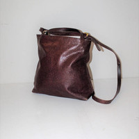 oxblook leather square backpack 90s vintage minimalist carry all napsack