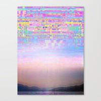 Displaced Canvas Print by Dood_L