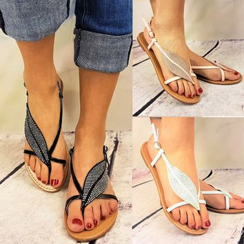 2018 Fashion Women Sandals Casual Flat Shoes Summer Flip Flops Cool Sandals High Quality Flat Sandals Gladiator Sandalias