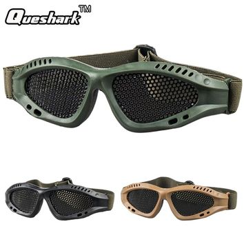 Protective With Metal Mesh Tactical Glasses CS Game Airsoft Goggles Outdoor Military Anti-Impact Eyewear Safety Eyeglasses