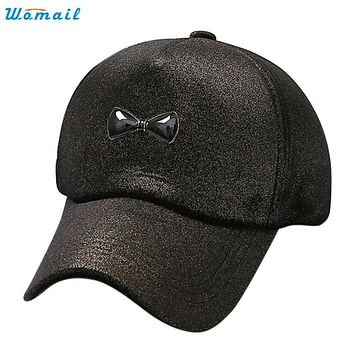 Trendy Style New Fashion Women Velvet fabric shade baseball cap Hat Adjustable bowknot Hip Hop Flat Hat Gift 1PC
