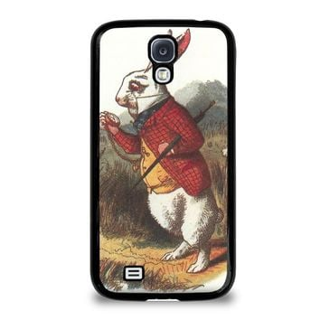 white rabbit alice in wonderland disney samsung galaxy s4 case cover  number 1