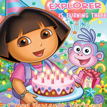 DIY Printable Dora The Explorer Invitation