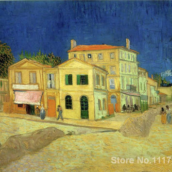 Christmas Gift The Yellow House Van Gogh by Vincent Van Gogh oil painting reproduction High quality Handmade