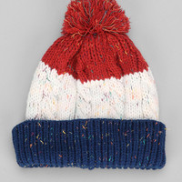 Speckled Colorblock Pom Beanie - Urban Outfitters