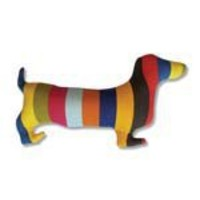 Doxie Stripe Dachshund Cushion (?45.00) - Hunkydory Home