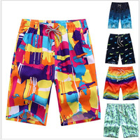 Sexy Beach Shorts Men Swimwear Brand Men Swimsuits Surf Board Beach Wear Man Swimming Trunks Boxer Shorts Swim Suits Gay Pouch