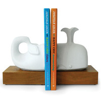 Jonathan Adler Whale Bookends in Menagerie