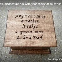 Father's day gift, music box, wedding favor, father of bride gift, father of the bride gift, personalized gift, simplycoolgifts, for dad