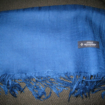 Cashmere Shawl, Royal Blue