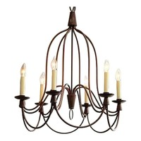 Pre-owned William Sonoma 6 Light French Country Chandelier