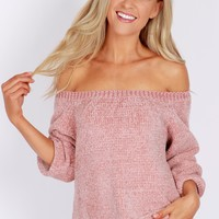 Soft Knit Sweater Dusty Pink