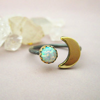the Lunar Ring by 0RejoiceTheHands on Etsy