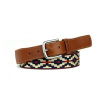 La Matera Trucha Belt Red and Khaki